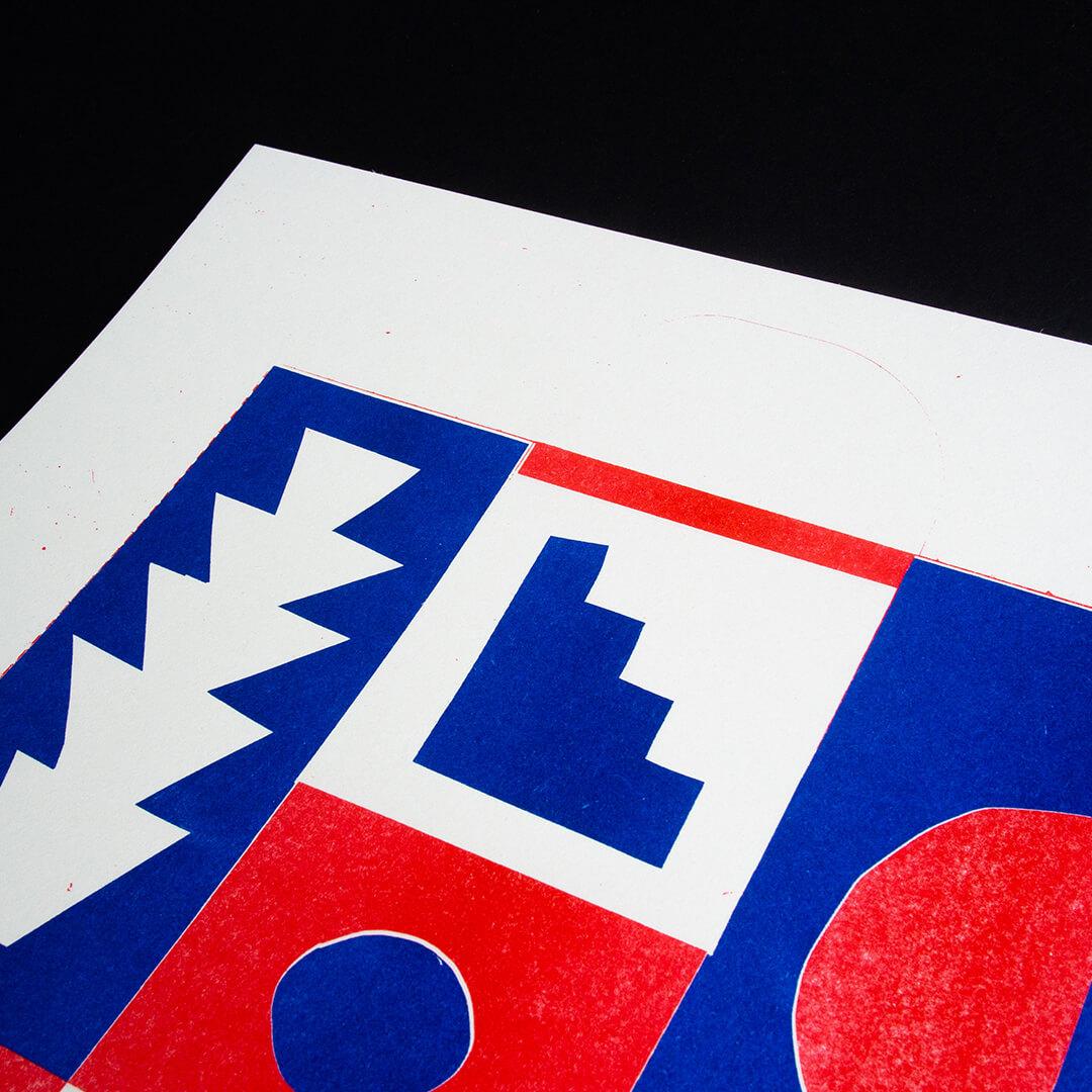 Superkolor Riso Artprint »Paper Cut 01«