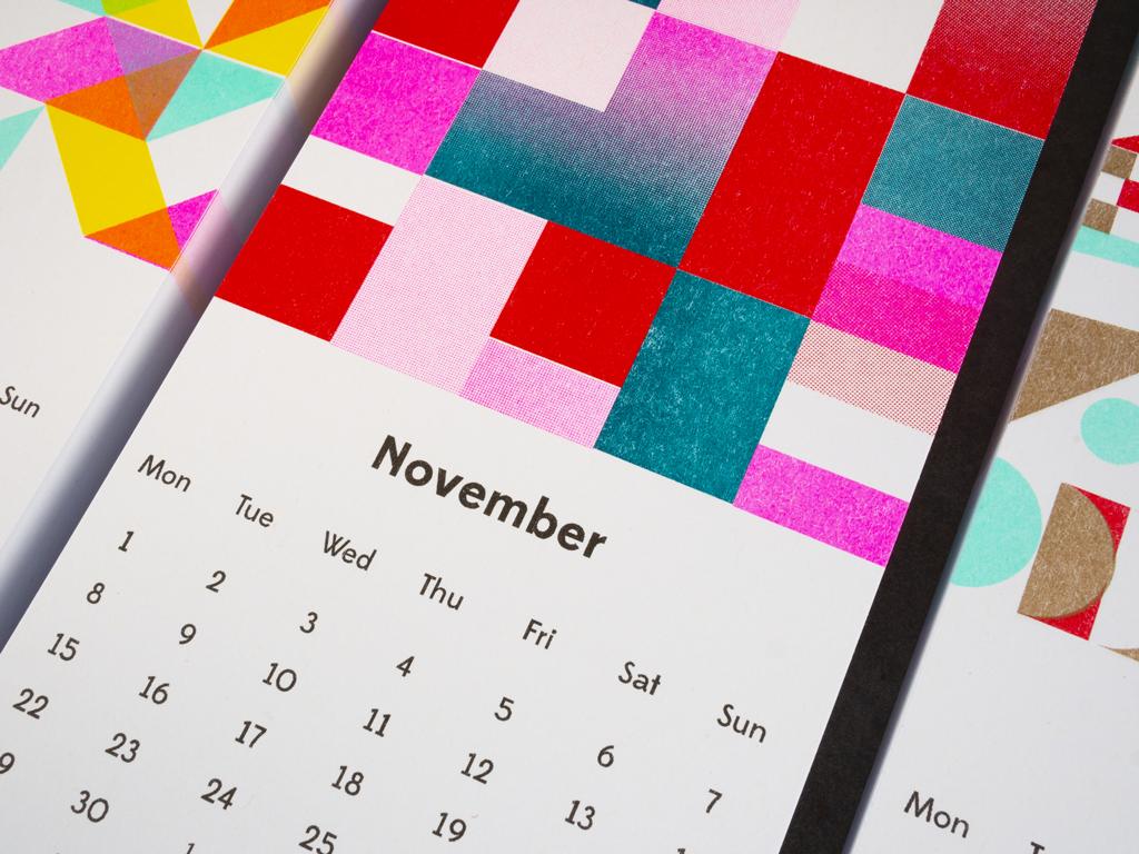 Superkolor –Riso Wall Calendar 2021