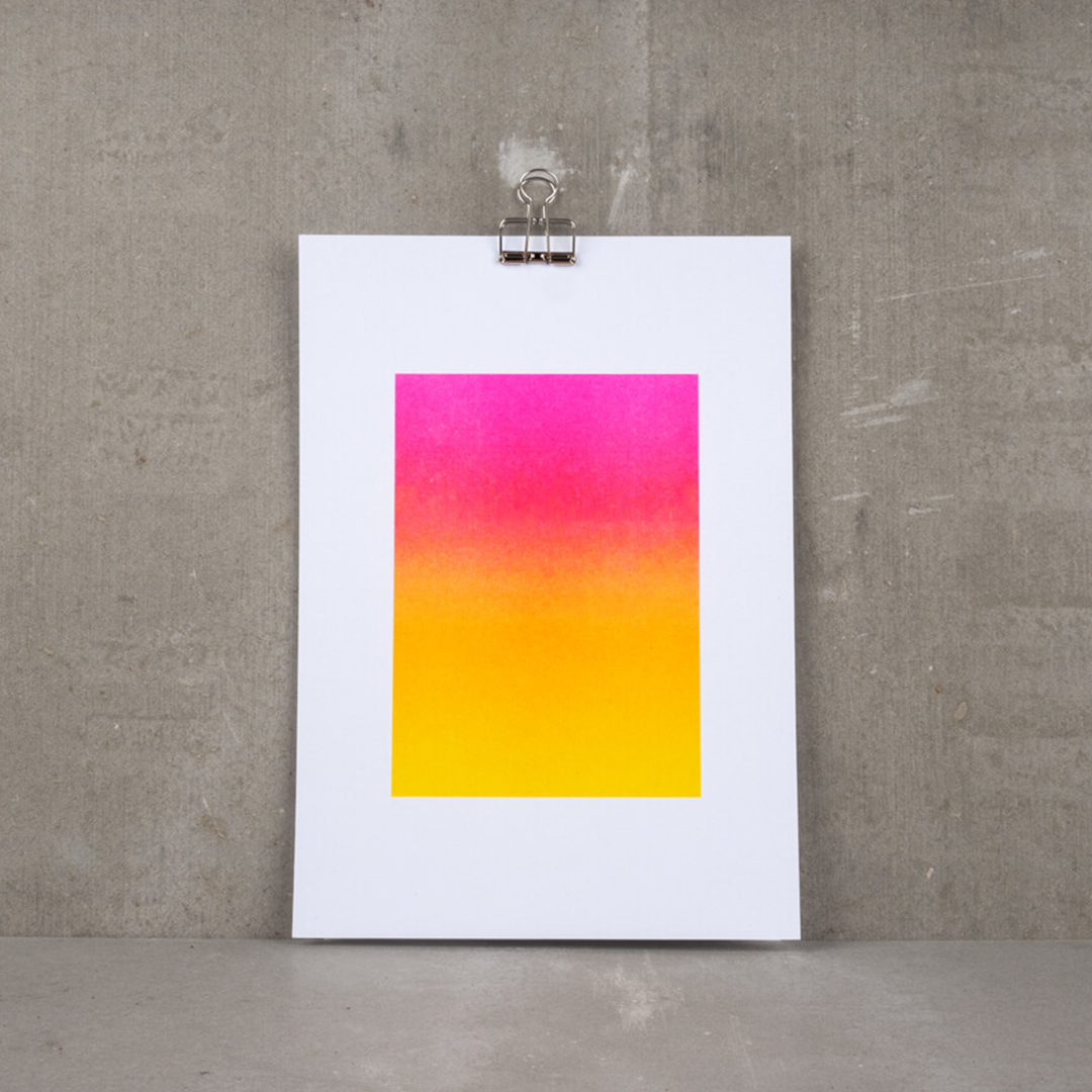 Superkolor – The Sky Was Pink – Riso Art Print